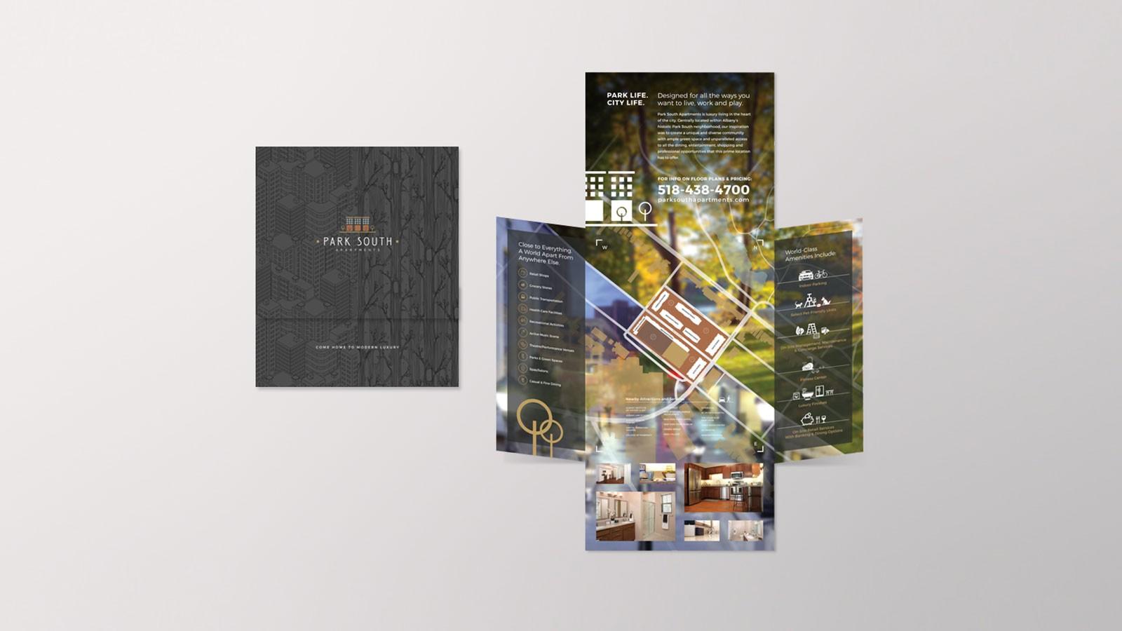 apartment brochure design. Park South Apartments   Brochure Apartment Design L